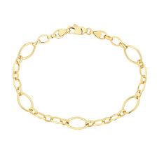 """19cm (7.5"""") Fancy Bracelet in 10ct Yellow Gold"""