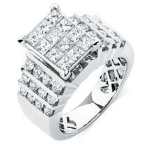Online Exclusive - Engagement Ring with 1.95 Carat TW of Diamonds in 14ct White Gold