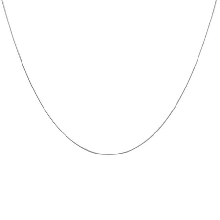 """40cm (16"""") Snake Chain in Sterling Silver"""