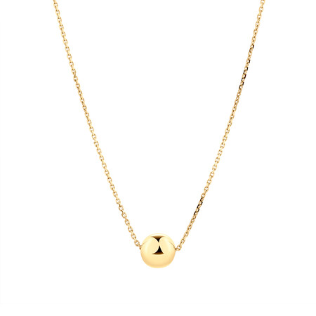 Ball Necklace in 10ct Yellow Gold