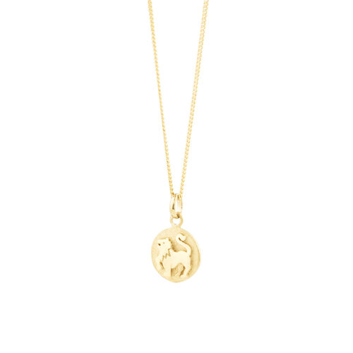 Leo Zodiac Pendant In 10ct Yellow Gold