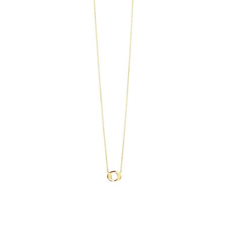 """""""O"""" Initial Necklace In 10ct Yellow Gold"""