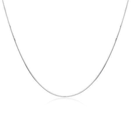"55cm (22"") Box Chain in Sterling Silver"