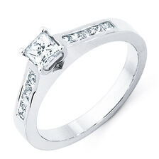 Engagement Ring with 0.7 Carat TW of Diamonds in 18ct White Gold