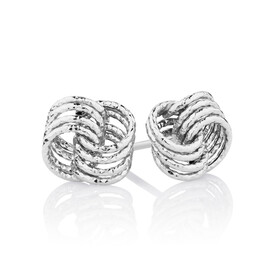 Stud Earrings in 10ct White Gold