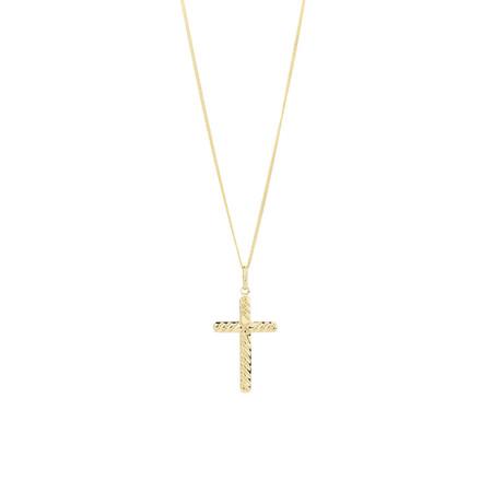 Twist Cross Pendant in 10ct Yellow Gold