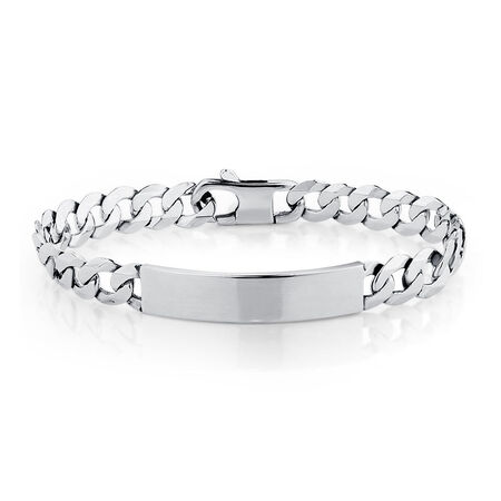 "Men's 21cm (8.5"") Identity Bracelet in Sterling Silver"
