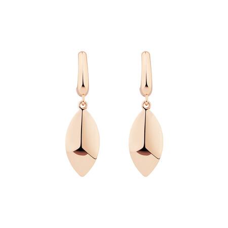 Drop Stud Earrings in 10ct Rose Gold
