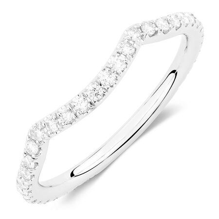 Sir Michael Hill Designer GrandAdagio Wedding Band with 0.39 Carat TW of Diamonds in 14ct White Gold