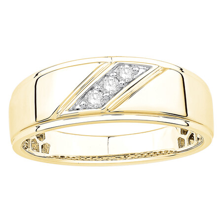 Ring with Champagne Diamonds in 10ct Yellow Gold