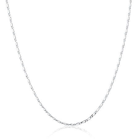 "55cm (22"") Figaro Chain in Sterling Silver"