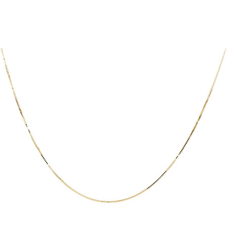 "70cm (28"") Box Chain in 10ct Yellow Gold"