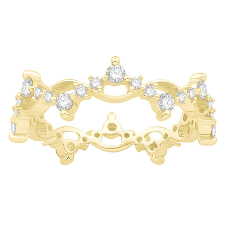 Ring with 0.60 Carat TW of Diamonds in 10ct Yellow Gold