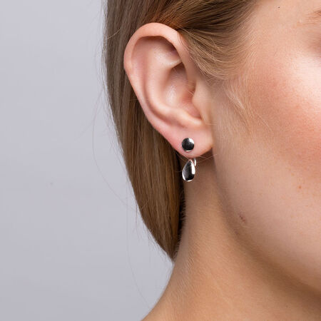 Stud & Enhancer Earrings in Sterling Silver