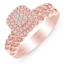 Bridal Set with 0.25 Carat TW of Diamonds in 10ct Rose Gold
