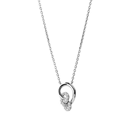 Knots Box Set with Diamonds in Sterling Silver