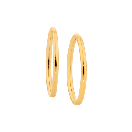 12mm Sleeper Earrings in 10ct Yellow Gold
