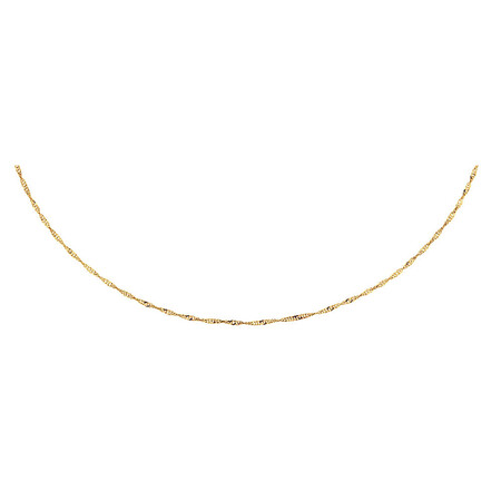 "45cm (18"") Hollow Singapore Chain in 10ct Yellow Gold"