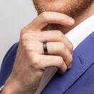 Ring in Black Titanium