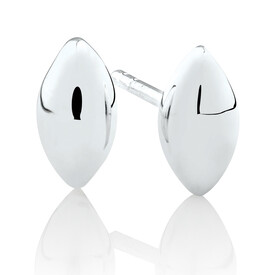 Oval Stud Earrings in Sterling Silver