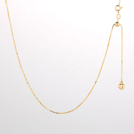 """Online Exclusive - 50cm (20"""") Box Chain in 10ct Yellow Gold"""