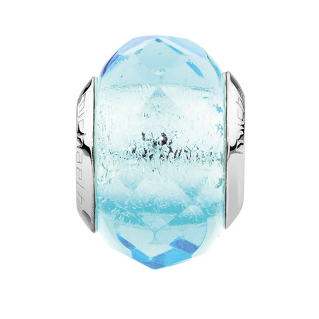 Aqua Faceted Crystal Charm