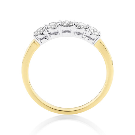 Evermore Wedding Band with 0.50 Carat TW of Diamonds in 14ct Yellow and White Gold