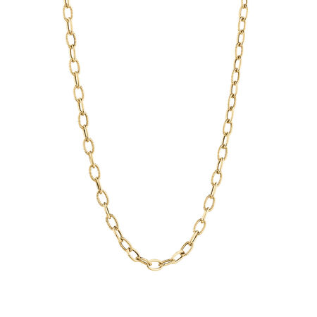 Oval Belcher Chain in 10ct Yellow Gold