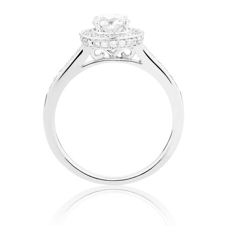 Online Exclusive - Engagement Ring with 1 Carat TW of Diamonds in 14ct White Gold