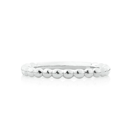 Bubble Stacker Ring in Sterling Silver
