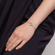 Infinitas Bracelet with Diamonds in Sterling Silver & 10ct Yellow Gold