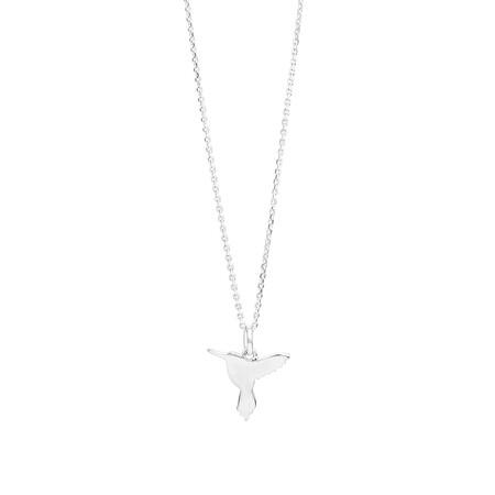 "50cm (19"") Hummingbird Pendant In Sterling Silver"