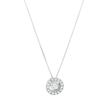 Everlight Pendant with 1 Carat Of Diamonds in 14ct