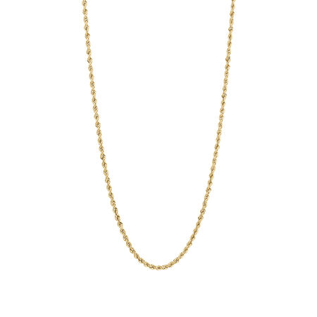 Hollow Rope Chain in 10ct Yellow Gold