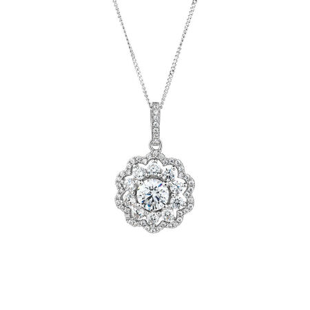 Pendant with Luxe Cubic Zirconia in Sterling Silver