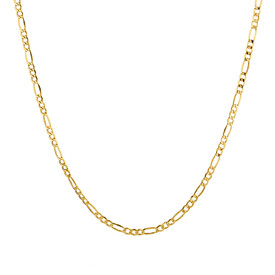 "55cm (22"") Hollow Figaro Chain in 10ct Yellow Gold"