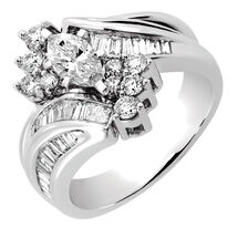 Online Exclusive - Bridal Set with 1.45 Carat TW of Diamonds in 14ct White Gold