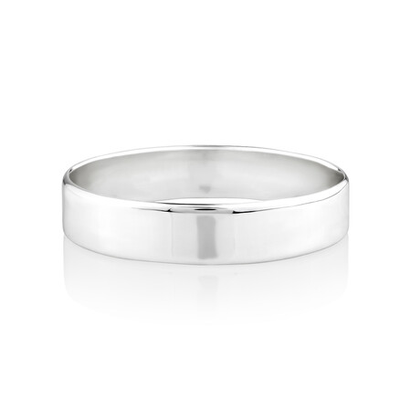 65mm Wide Solid Bangle in Sterling Silver