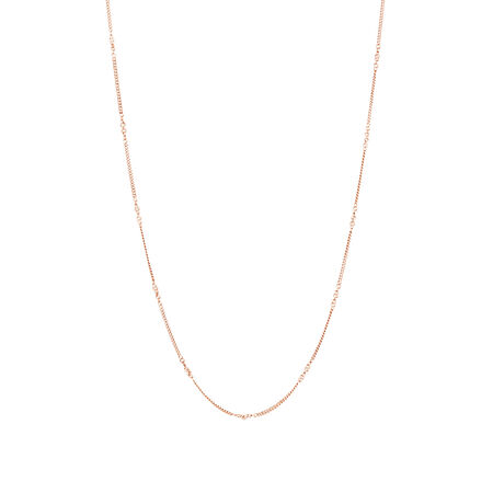 """45cm (18"""") Fancy Link Chain in 10ct Rose Gold"""