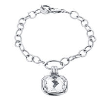 Online Exclusive - Charm Bracelet with Cubic Zirconia in Sterling Silver
