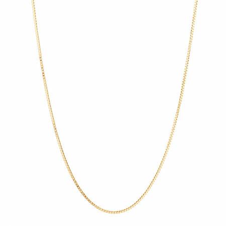 "45cm (18"") Diamond Cut Box Chain in 14ct Yellow Gold"