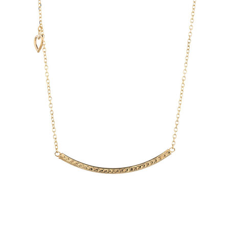 Online Exclusive - Curved Bar Necklace in 10ct Yellow Gold