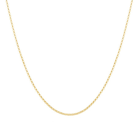 """55cm (22"""") Hollow Belcher Chain in 10ct Yellow Gold"""