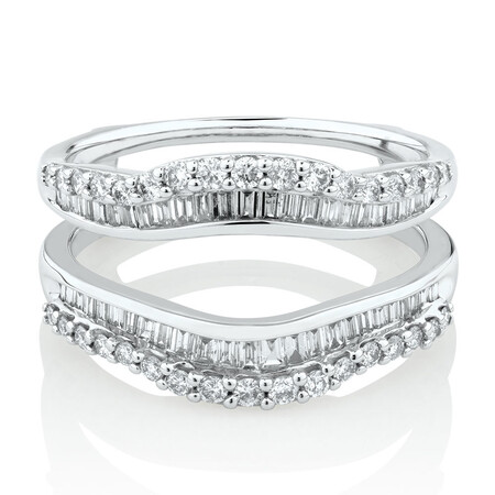 Enhancer Ring with 3/4 Carat TW of Diamonds in 14ct White Gold