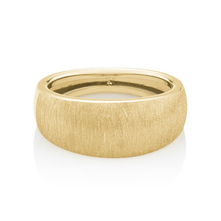 Hollow Wide Ring in 10ct Yellow Gold