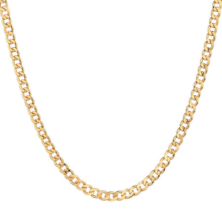 "60cm (24"") Hollow Curb Chain in 10ct Yellow Gold"