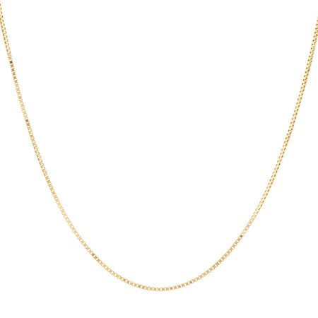 "45cm (18"") Box Chain in 10ct Yellow Gold"