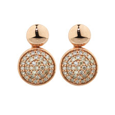 Online Exclusive - Stud Earrings with Diamonds in 10ct Rose Gold