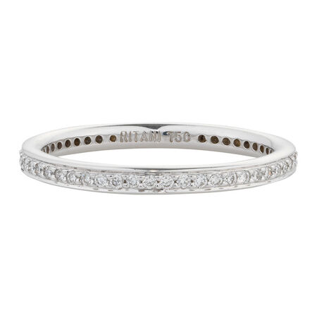 Online Exclusive - Wedding Band with 0.23 Carat TW of Diamonds in 18ct White Gold