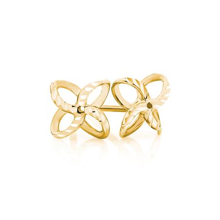 Petal Stud Earrings in 10ct Yellow Gold